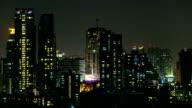 Ufficio finestra di notte Time lapse