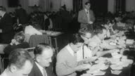1960 B/W Officials counting ballots / United Kingdom