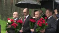Officials in Kiev participate in an annual Day of Rememberance for victims of political repression by the Soviet Union