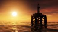 Offshore Oil Drilling Rig-Plattform