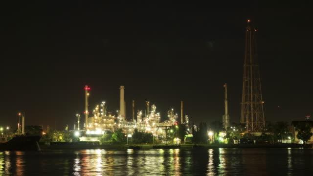Olieraffinaderij nachts