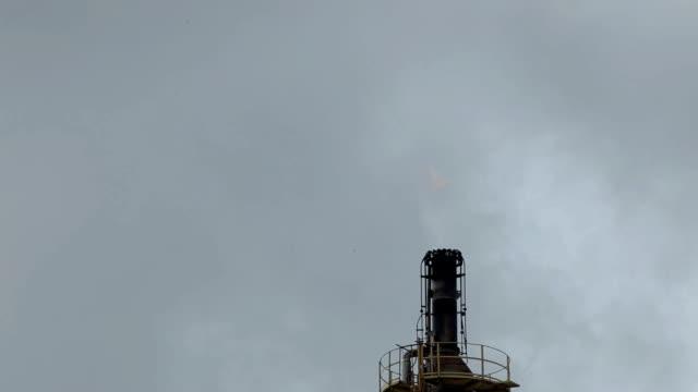 Olja raffinaderiet flame