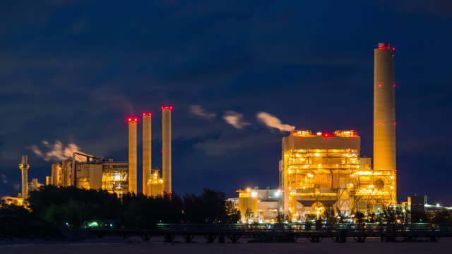 Oil refinery in zoom shot