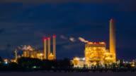 Oil refinery in zoom