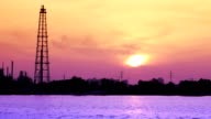 Oil refinery near the river