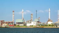 Oil Refinery ,Panning Shot