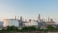 Oil Refinery Plant day to night