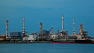 Oil Refinery Plant Time Lapse