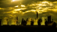 Oil refinery plant.