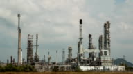 Oil refinery. Time Lapse