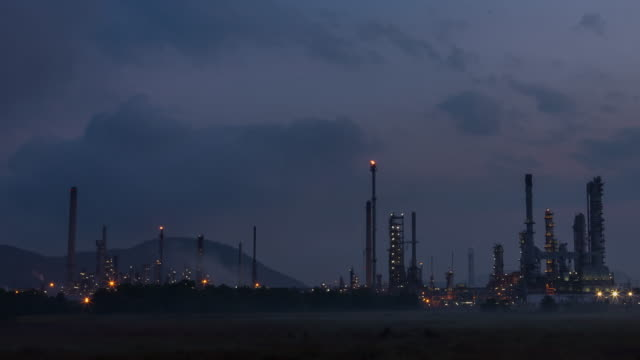Oil Refinery Twilight