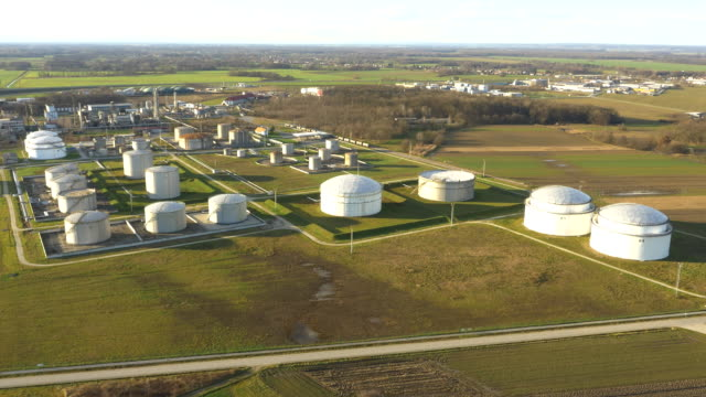 AERIAL Oil storage tanks