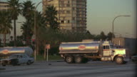 WS Oil tanker truck exploding in street