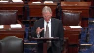 Oklahoma Senator Jim Inhofe mentions missile defense sites in Europe early on in the Obama administration or as deterrence against Iranian and...