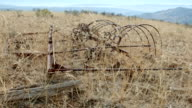 Old agricultural farming equiptment rusty Western Ranch Oregon 6