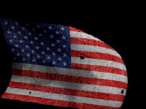 Alte amerikanische Flagge Winken