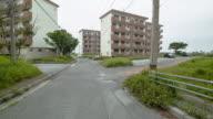 Old apartment buildings in Japan.