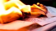 Old book burning - german language - source file cinema dng
