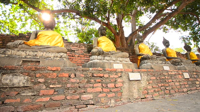 Old Buddha Statues at Historical Park of Ayutthaya, Thailand