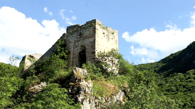 Old castle on top of a mountain