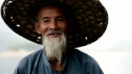 Alte chinesische Mann Nahaufnahme