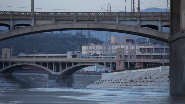 Old Concrete Bridges Over Man-Made Creek