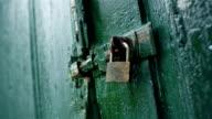 Alte Tür Sicherheitssperre