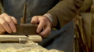 HD SLOW-MOTION: Old Fashion Carpentry