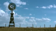 Old fashioned rural windmill water tower