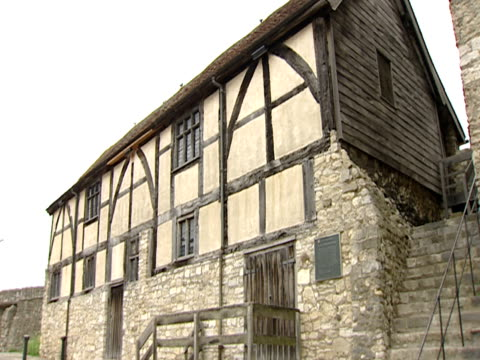 2003 Old half-timbered house standing in town/ Southampton, Hampshire, England