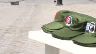 Old Havana, Cuba: Che Guevara image as a tourist souvenir in a green olive cap