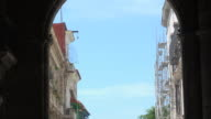 Old Havana, Cuba: Zoom in to neighbouring architecture from the Palace of the Captains Generals