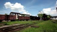 Old locomotive with steam engine