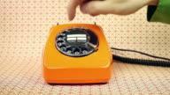 old orange Telefon-Telefon-Nummer