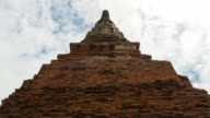 Old pagoda and blue sky at Wat Phra Mahathat temple