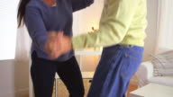 Old people dancing together