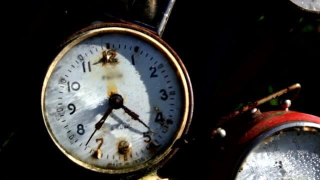 old rusty clocks