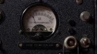 CU of old short wave radio