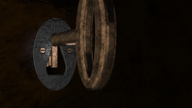 Alten Stil Einsteckschloss Riegel Schlüssel Öffnen einer abschließbaren Tür
