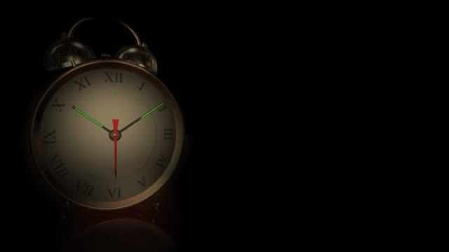 Alten Stil Twin Bell Wecker klingelt um 06:00