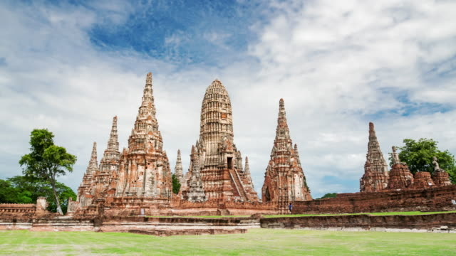 Old temple wat chaiwatthanaram of Ayutthaya province