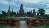 Old Temple wat Chaiwatthanaram timelapse