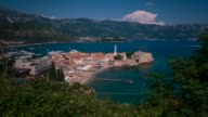 Old town and beach of Budva, Montenegro
