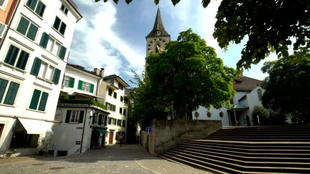Old Town Zurich wit St. Peter Church