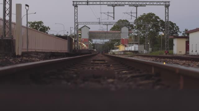 Old train tracks at Byron Bay, low angle at dusk