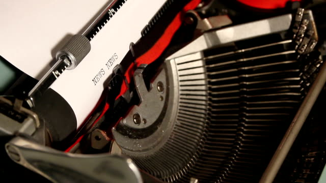 old typewriter write the word news
