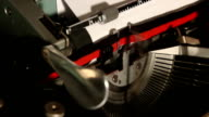 old typewriter write the word newsletter