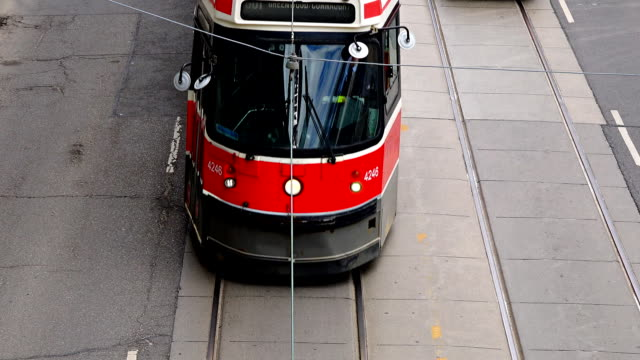 Old Vintage TTC streetcars in Queen Street West