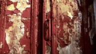 Old weathered wooden door