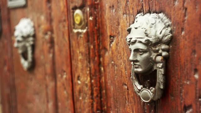 Old woman shaped door knocker